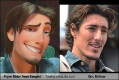 Flynn Rider look alike Eric Balfour. true! No wonder I thought that character was so hot for a cartoon....