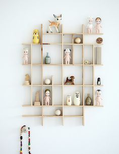 Smart. Display treasures and trinkets in your nursery with a simple shelving system.