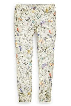 Girls Clothing Online - 3 to 16 years - Next Butterfly All Over Print Skinny Jeans