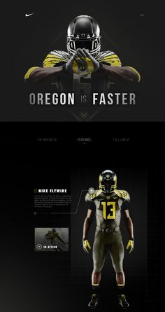 Oregon Nike Partnership by ⋈ Samuel Thibault Oregon Nike Partnership von Samuel Thibault Sport Inspiration, Graphic Design Inspiration, Sports Graphic Design, Sports Logo, Sports Banners, Sports Marketing, Football Design, Sports Graphics, Newsletter Design
