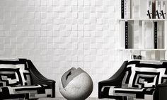Select   Eclipse, a 3D textile wallcovering in black & white   Collections   Arte wallcovering
