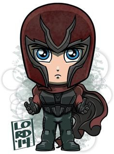 Chibi Magneto (Marvel cinematic universe) by Lord Mesa Drawing Cartoon Characters, Character Drawing, Marvel Characters, Comic Character, Cartoon Art, Cute Cartoon, Marvel Comics, Chibi Marvel, Chibi Superhero
