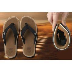 dbe74b25ba768a Mens Large Size Black Leather Fashion Flip Flops Sandals Slippers Sale  SKU-1100003