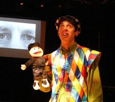 MICHAEL GRAY'S ARTS BLOG: THE TEMPEST Blitzed -- Not sure why this Trinculo has a puppet.