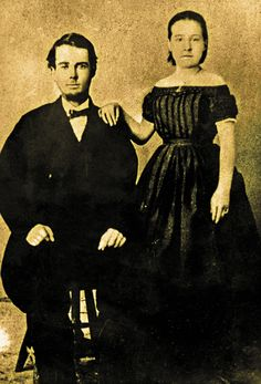This only known portrait of John and Victoria Behan together was probably taken around the time of their marriage in 1869. Six years later, they divorced.  – Courtesy University of Arizona Special Collections –