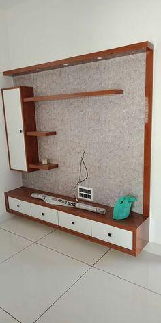 Tv Unit Interior Design, Tv Wall Design, Simple Tv Unit Design, Tv Cupboard Design, Modern Tv Wall Units, Tv Unit Decor, Wall Tv, Sweet House, Bedroom Bed Design