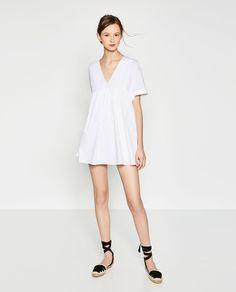 Image 1 de ROBE COMBINAISON EN POPELINE de Zara