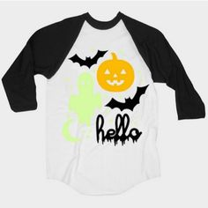 HELLO APPAREL HALLOWEEN GLOW IN THE DARK KIDS 3/4 SLEEVE RAGLAN – Desmond Elephant