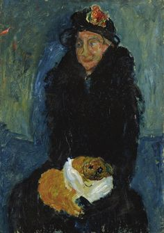 "grundoonmgnx:  "" Chaïm Soutine, Old Woman with Dog, 1919  """