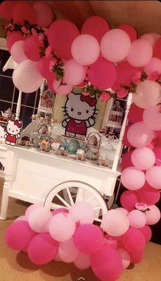 Rosario N's Birthday / Hello Kitty - Photo Gallery at Catch My Party Hello Kitty Birthday Theme, Hello Kitty Wedding, Cat Birthday, Hello Kitty Photos, Hello Kitty Themes, Hello Kitty Cake, Hello Kitty Baby Shower, Kitty Party, 60th Birthday Party Decorations