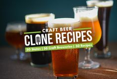 We asked 50 craft brewers from all over the country to share their favorite commercial clone beer recipes for homebrewers.