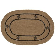 Check out the deal on Burlap Star Oval Braided Rug - 5'x8' at Primitive Home Decors