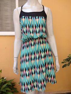 Vestido Estampa Geométrica Disponíveis nos tamanhos M e G