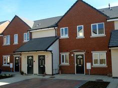 St Davids Road North, St Annes. The 32 unit scheme provides a mix of 2, 3, and 4 bedroom houses, bungalows and apartments for New Fylde housing association. Croft Goode Architects.