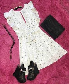 Don't Polka Dot Around Dress Going Out Outfits, Cool Outfits, Casual Outfits, All Fashion, Womens Fashion, Stylish Kids, Night Outfits, Trendy Dresses, Comfortable Outfits