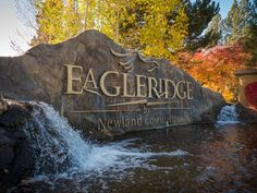 Eagle Ridge entry monument looks great in fall colors.