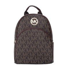 Michael Kors Jet Set Travel Logo Small Coffee Backpacks