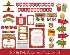 Elf Printables, North Pole Breakfast, by SugarPickleDesigns on Etsy #northpolebreakfast,#elfideas