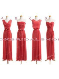 long bridesmaid dress, mismatch bridesmaid dresses, chiffon bridesmaid dress, custom bridesmaid dress, coral bridesmaid dress, cheap bridesmaid dresses #custom bridesmaid dress -  chiffon bridesmaid dress