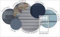 I just designed a custom home color palette using Ply Gem's visualizer. Design your custom color scheme here. Vinyl Siding Colors, Siding Colors For Houses, Exterior Paint Colors For House, Paint Colors For Home, Exterior Colors, Paint Colours, Exterior House Colors Combinations, Exterior Paint Schemes, Exterior Siding