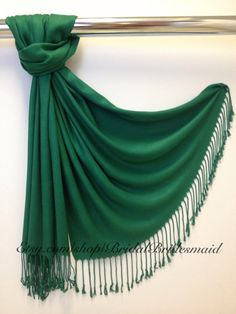 EMERALD GREEN PASHMINA emerald green shawl by BridalBridesmaid
