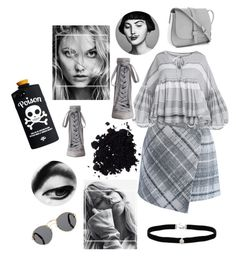 """""""Grey «2»"""" by unicornul ❤ liked on Polyvore featuring Tema, Chicwish, Zimmermann, Amanda Rose Collection, Gap and Prada"""