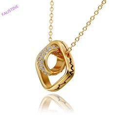 Find More Pendant Necklaces Information about super smooth  circular loop and squar LOVE winding's Pendant Gold Plated choker necklace,High Quality fashion bib necklace,China necklace wear Suppliers, Cheap necklace pear from Faustine on Aliexpress.com