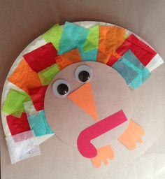 Easy Fall Tissue Paper Turkey Craft  | Sticky Floors, Happy Kids