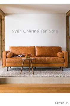 Warm, comfortable, cognac leather.
