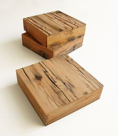 Wooden boxes. Can store and keep media devices hidden and organized.