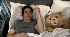 "Ted: Thunder buddies for life, right Johnny? John: F***in' right! Ted: Alright, come one, let's sing the Thunder Song. John: Alright. John & Ted: When you hear the sound of thunder, don't you get too scared. Just grab your thunder buddy and say these magic words: ""F*** you thunder! You can suck my d***. You can't get me, thunder, 'cause your just God's farts. Pft."" - #MarkWahlberg #Ted Click for audio."