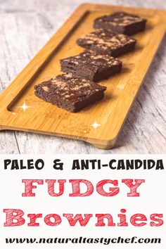 Rich, Fudgy Brownies that are adaptable for a Candida Diet! Seriously yummy and grain free too! Protein Brownies, Fudgy Brownies, Brownie Recipes, Dessert Recipes, Date Brownies, Paleo Cookie Dough, Juice Cleanse Recipes, Pumpkin Brownies, Candida Diet
