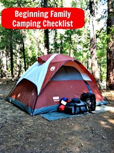 A Family Camping Checklist