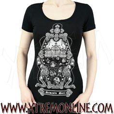 Camiseta de manga corta Memento Mori - #Cementerio #gotico #alternativo