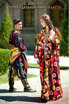 Traditional costumes from Surkhandarya Region, Uzbeksitan.