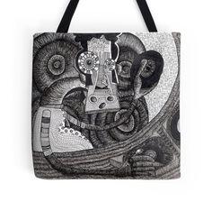 DJ #dj #totebag #style #accessories #furniture #iblackwork #black&white #cool