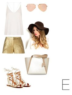 """☀️"" by chavichka2000 ❤ liked on Polyvore featuring Lanvin, Sigerson Morrison, Topshop, Akris and Ray-Ban"
