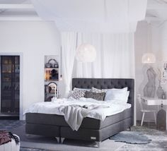 Sandö from Carpe Diem Beds of Sweden. Box Spring Bed, Divan Bed, Furniture, Beautiful Bedrooms, Bed, Home, Apartment Design, Bedroom, Room