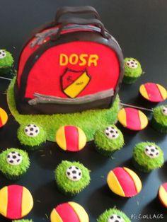 Voetbal taart en cupcakes