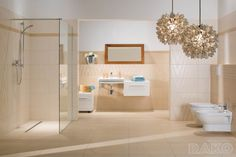 Bathroom tiles / different height Sandy RAKO HOME