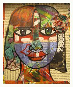 Collage Art Lesson: How to Make a Pleasing Face - Cloth Paper Scissors Today - Blogs - Cloth Paper Scissors