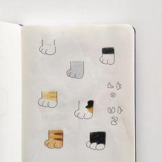 발마저 귀여운 고냥씨들〰🐱 냥발 그림과 스티커🐾 스티커는 이번 주 주말 업뎃입니다:) 마스킹도 만들었는데 요건 2월 업뎃 예정이에요💁🏻♀️ #baehyunseon_illust #쓰리먼쓰 Art Prompts, Beige Aesthetic, Cute Anime Boy, Studyblr, Cute Images, Bullet Journal Inspiration, Look At You, Abstract Pattern, Easy Drawings