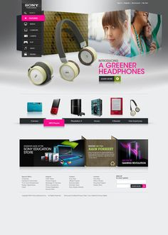 #Sony Redesign 2010 by Omar Puig, via #Behance #Webdesign
