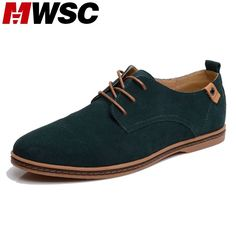 MWSC Fashion Round Toe Soft Suede Leather Men Casual Shoes Breathable Man Leather Shoes Designer Brand Men Plus 48 Size Shoes