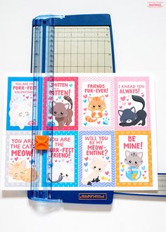 Cats Crafts For Kids Free Printables 34 Ideas For 2019 Free Valentine Cards, Homemade Valentine Cards, Valentines For Boys, Cat Valentine, Valentine Crafts, Valentine Ideas, Valentine's Cards For Kids, Valentine's Day Diy, Free Printables