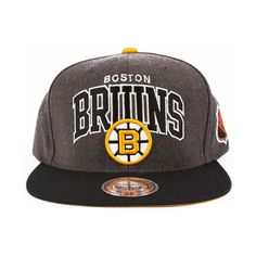 Boston Bruins Arch with Logo G2 Snapback Hat    Mitchell & Ness        $26.00