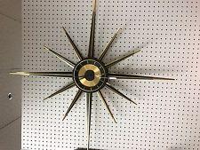 Mid Century Modern Starburst Wall Clock, Atomic.