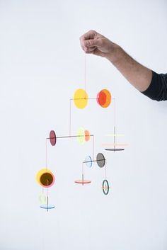 LMC Mobile from Jordi Canudas Studio, 2017 for sale at Pamono Mobile Art, Hanging Mobile, Hanging Art, Mobiles, Mobile Sculpture, Origami Mobile, Salt Dough, Contemporary Design, Different Colors