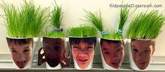 Grass Heads- instructions here. Kidpeople Classroom