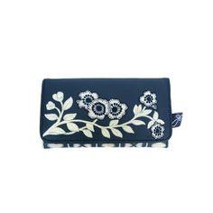 Billetera azul flores colección Jan Constantine Disaster Designs